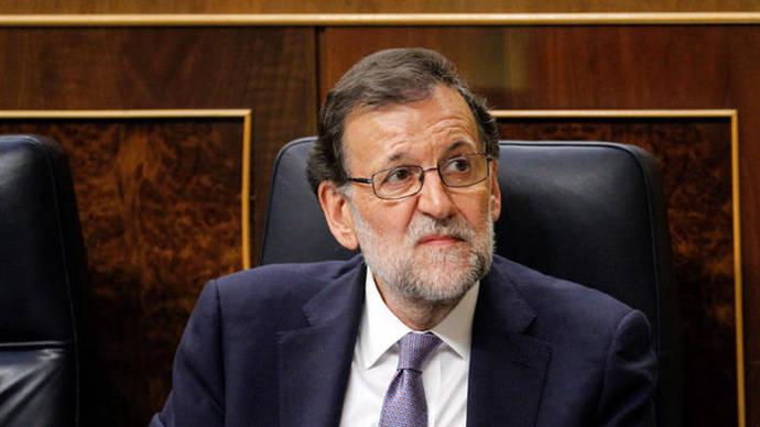 El presidente en funciones, Mariano Rajoy, en la sesión de investidura del 31 de agosto