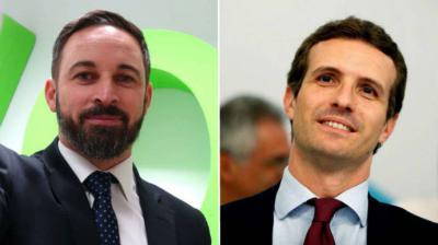 Los pactos con Casado y Rivera normalizan a la extrema derecha de Vox, que ya pugna por ser tercera fuerza