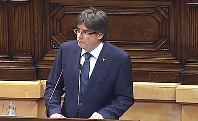 Puigdemont anuncia el referéndum sobre la independencia de Catalunya para el próximo 1 de octubre