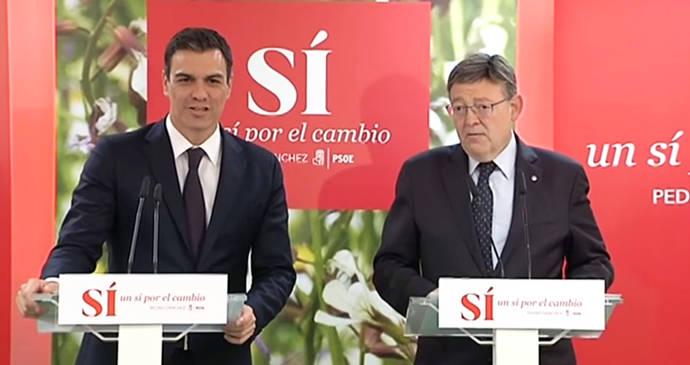 Pedro Sánchez (i) y Ximo Puig en una foto de archivo