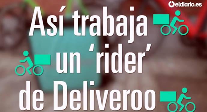 Así trabaja un repartidor de Deliveroo: