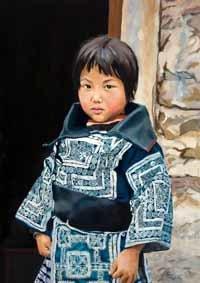 Solange da Costa retrata China en su pintura