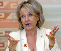 Jan Brewer, gobernadora del estado de Arizona