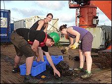Las muestras de basalto serán analizadas a lo largo del año.