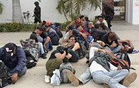 Un grupo de 60 indocumentados, interceptados por la policía mexicana en el estado de Chiapas.