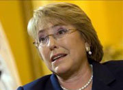 La ex presidenta de Chile Michelle Bachelet.